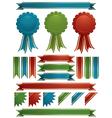 glossy ribbons vector image vector image