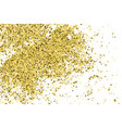 gold glitter texture isolated on white amber vector image vector image