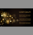 golden light effects on black vector image vector image