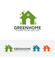 green home logo design vector image