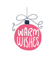 hand drawn christmas lettering vector image vector image