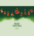 hanging christmas elements background vector image