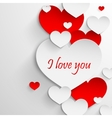 I love you Abstract holiday background with paper vector image vector image