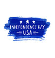 independence day hand drawn lettering design vector image