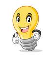 light bulb mascot cartoon character design vector image vector image