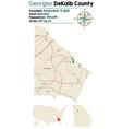 map dekalb county in georgia vector image vector image