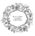 monochrome ornate frame card hand drawn sketch vector image