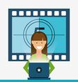 movie online design vector image vector image