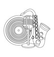 music elements cartoon vector image