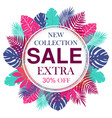 new collection sale banner design for promotion vector image vector image