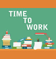 office table with working conditions vector image