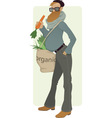 Organic eater vector image