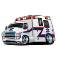 paramedic ambulance rescue truck cartoon vector image vector image