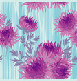 pink bright autumn flowers seamless pattern vector image vector image