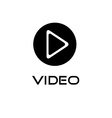 Play video button design template vector image vector image
