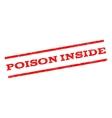 Poison Inside Watermark Stamp vector image