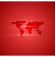 Red glowing background with world map vector image vector image