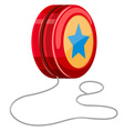 Red yo-yo with white string vector image vector image
