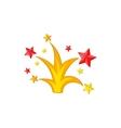 Salute icon cartoon style vector image vector image