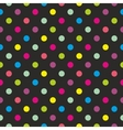 Seamless dark background with colorful dots vector image vector image