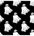 seamless pattern white halloween ghosts vector image vector image