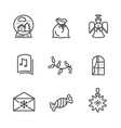set of black wintertime icons vector image vector image