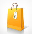 Shopping yellow bag vector image vector image