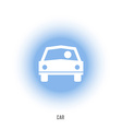 Sign of car with driver The car in front vector image vector image
