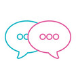 speech bubble cartoon vector image vector image