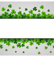 st patricks day banner with green shamrocks vector image vector image