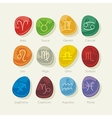 Stones set with zodiac signs vector image