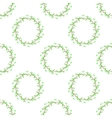 Summer Green Seamless Leaves Pattern vector image vector image