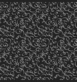 swirls dark seamless pattern vector image