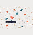 terrazo modern print background vector image