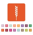 The wheat icon Spica symbol Flat vector image vector image