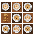 Tic-Tac-Toe of cappuccino and latte vector image vector image