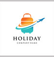 travel logo holiday airplane with bag design
