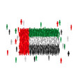 uae united arab emirates state flag formed by vector image