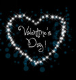 valentine greeting in night hearts card vector image vector image