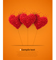 valentines day heart balloons vector image vector image
