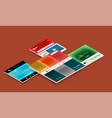 web site page design development concept vector image vector image