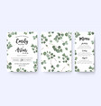 wedding invite menu card floral design vector image vector image