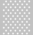 white circles seamless pattern vector image