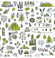 wild field nature seamless pattern for your vector image