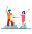 winning big money vector image