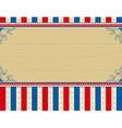 wooden usa background with stars and decorative fr vector image vector image