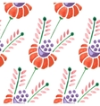 Seamless watercolor flower pattern vector image