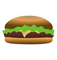 isolated hamburger icon vector image