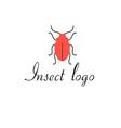 graphics icon red beetle isolated vector image