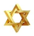 Judaism star Seal of Solomon icon vector image